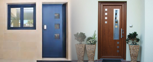 Puertas metalicas exteriores simple puertas exteriores for Puertas pvc exterior